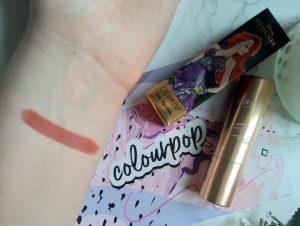 Colourpop Disney Designer Ariel Lux Lipstick Swatch