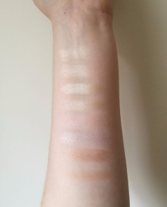 Soph x Makeup Revolution Highlighter Palette Swatches