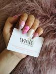SJ Nails pink marble and glitter