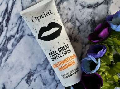 Optiat Coffee Scrub in 'Mouthwatering Mandarin'