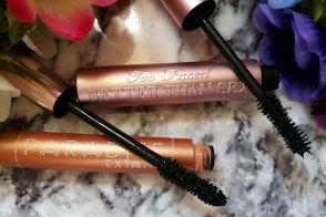 Too Faced Better Than Sex mascara and L'oreal Paris Paradise Mascara