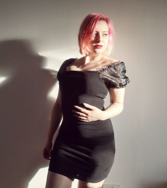 Black Mesh Puff Short Sleeve Organza Mini Dress - Lola femmeluxefinery.co.uk
